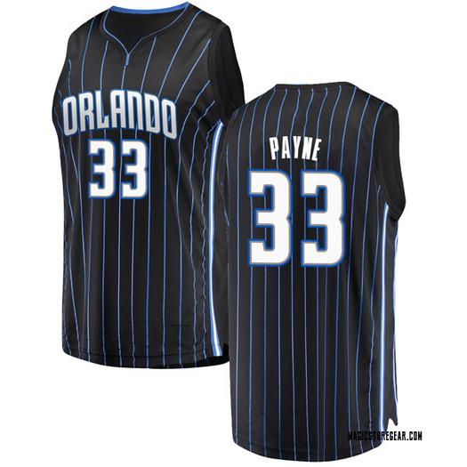 Men's Adreian Payne Orlando Magic Fanatics Branded Swingman Black Fast Break Jersey - Statement Edition