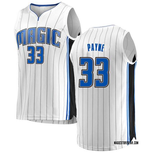 Men's Adreian Payne Orlando Magic Fanatics Branded Swingman White Fast Break Jersey - Association Edition