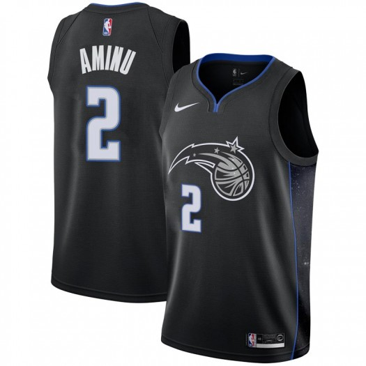 Men's Al-Farouq Aminu Orlando Magic Nike Swingman Black 2018/19 Jersey - City Edition