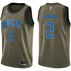 Men's Al-Farouq Aminu Orlando Magic Nike Swingman Green Salute to Service Jersey