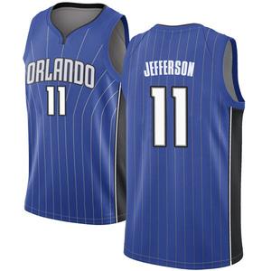Men's Amile Jefferson Orlando Magic Nike Swingman Royal Jersey - Icon Edition