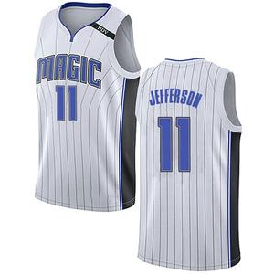 Men's Amile Jefferson Orlando Magic Nike Swingman White Jersey - Association Edition