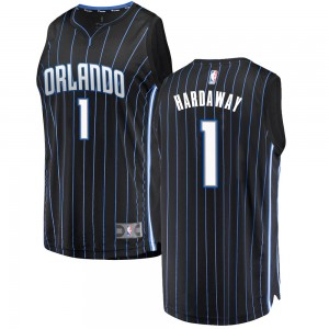 Men's Anfernee Hardaway Orlando Magic Fanatics Branded Swingman Black Fast Break Jersey - Statement Edition