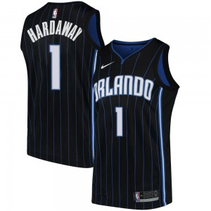 Men's Anfernee Hardaway Orlando Magic Nike Swingman Black Jersey - Statement Edition