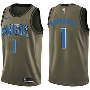 Men's Anfernee Hardaway Orlando Magic Nike Swingman Green Salute to Service Jersey
