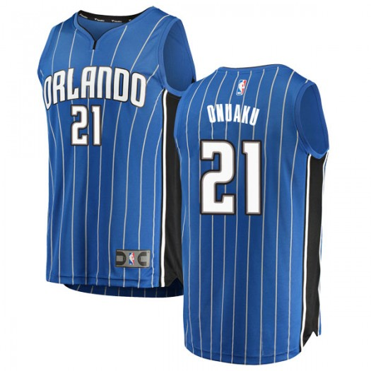 Men's Arinze Onuaku Orlando Magic Fanatics Branded Swingman Blue Fast Break Jersey - Icon Edition