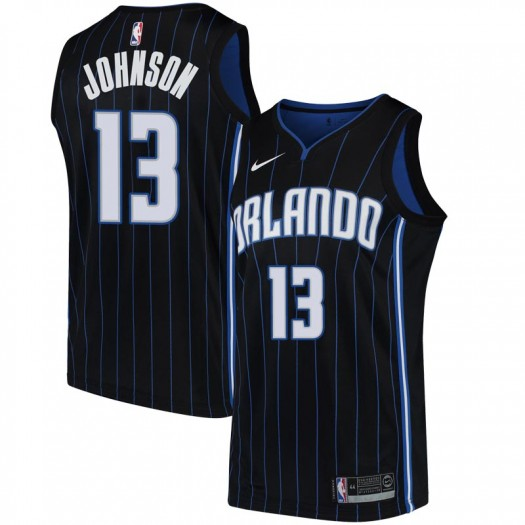 Men's B.J. Johnson Orlando Magic Nike Swingman Black Jersey - Statement Edition