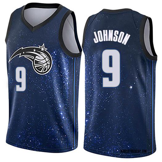 Men's B.J. Johnson Orlando Magic Nike Swingman Blue Jersey - City Edition