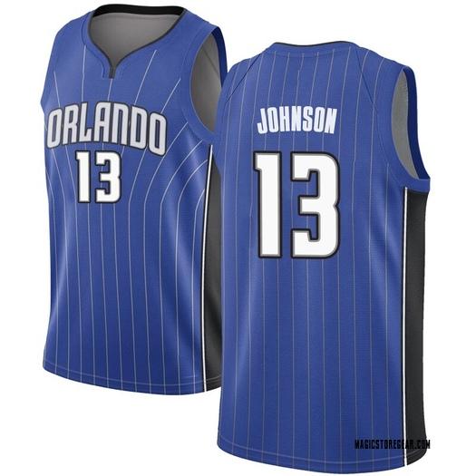 Men's B.J. Johnson Orlando Magic Nike Swingman Royal Jersey - Icon Edition