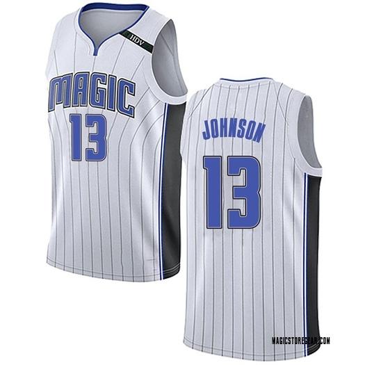 Men's B.J. Johnson Orlando Magic Nike Swingman White Jersey - Association Edition