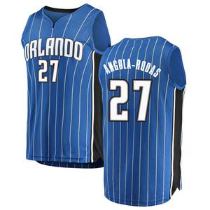 Men's Braian Angola-Rodas Orlando Magic Fanatics Branded Swingman Blue Fast Break Jersey - Icon Edition