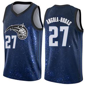 Men's Braian Angola-Rodas Orlando Magic Nike Swingman Blue Jersey - City Edition