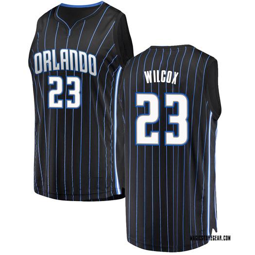 Men's C.J. Wilcox Orlando Magic Fanatics Branded Swingman Black Fast Break Jersey - Statement Edition
