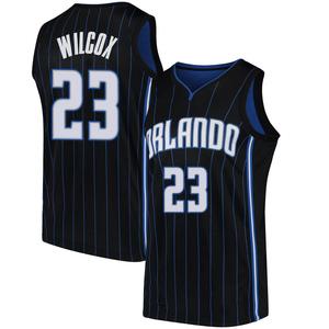 Men's C.J. Wilcox Orlando Magic Nike Swingman Black Jersey - Statement Edition