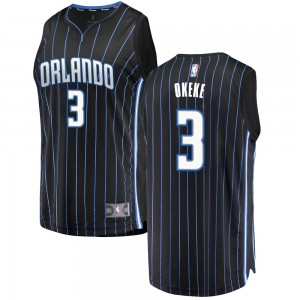 Men's Chuma Okeke Orlando Magic Fanatics Branded Swingman Black Fast Break Jersey - Statement Edition
