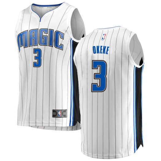 Men's Chuma Okeke Orlando Magic Fanatics Branded Swingman White Fast Break Jersey - Association Edition