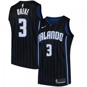 Men's Chuma Okeke Orlando Magic Nike Swingman Black Jersey - Statement Edition