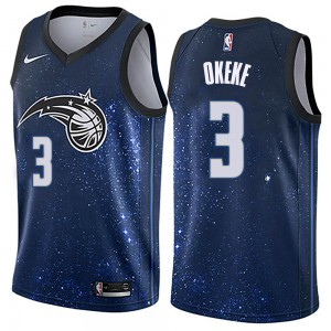 Men's Chuma Okeke Orlando Magic Nike Swingman Blue Jersey - City Edition