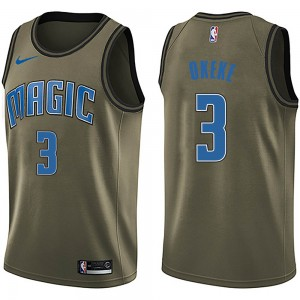 Men's Chuma Okeke Orlando Magic Nike Swingman Green Salute to Service Jersey