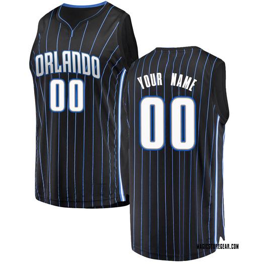 Men's Custom Orlando Magic Fanatics Branded Swingman Black Fast Break Jersey - Statement Edition
