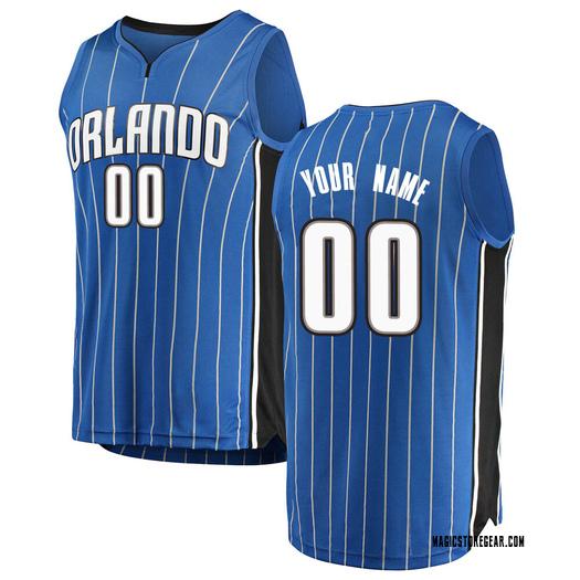 Men's Custom Orlando Magic Fanatics Branded Swingman Blue Fast Break Jersey - Icon Edition