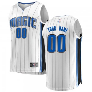 Men's Custom Orlando Magic Fanatics Branded Swingman White Fast Break Jersey - Association Edition