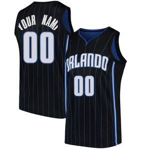 Men's Custom Orlando Magic Nike Swingman Black Jersey - Statement Edition