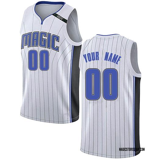 Men's Custom Orlando Magic Nike Swingman White Jersey - Association Edition