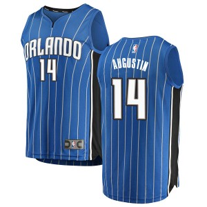 Men's D.J. Augustin Orlando Magic Fanatics Branded Swingman Blue Fast Break Jersey - Icon Edition