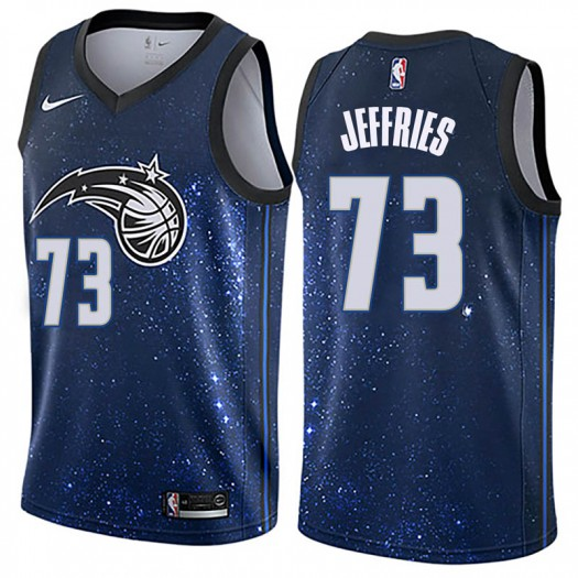 Men's DaQuan Jeffries Orlando Magic Nike Swingman Blue Jersey - City Edition
