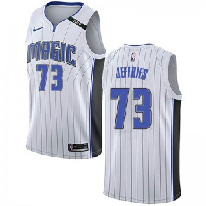 Men's DaQuan Jeffries Orlando Magic Nike Swingman White Jersey - Association Edition