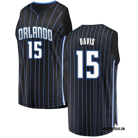 Men's Devin Davis Orlando Magic Fanatics Branded Swingman Black Fast Break Jersey - Statement Edition