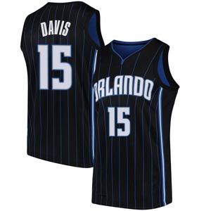 Men's Devin Davis Orlando Magic Nike Swingman Black Jersey - Statement Edition