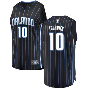 Men's Evan Fournier Orlando Magic Fanatics Branded Swingman Black Fast Break Jersey - Statement Edition