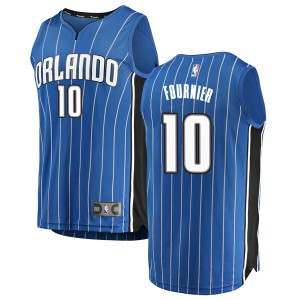 Men's Evan Fournier Orlando Magic Fanatics Branded Swingman Blue Fast Break Jersey - Icon Edition