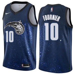 Men's Evan Fournier Orlando Magic Nike Swingman Blue Jersey - City Edition