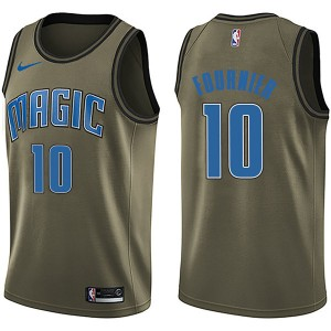 Men's Evan Fournier Orlando Magic Nike Swingman Green Salute to Service Jersey