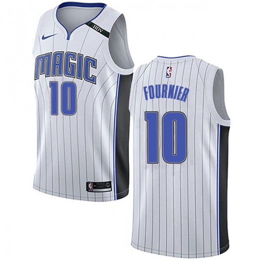 Men's Evan Fournier Orlando Magic Nike Swingman White Jersey - Association Edition