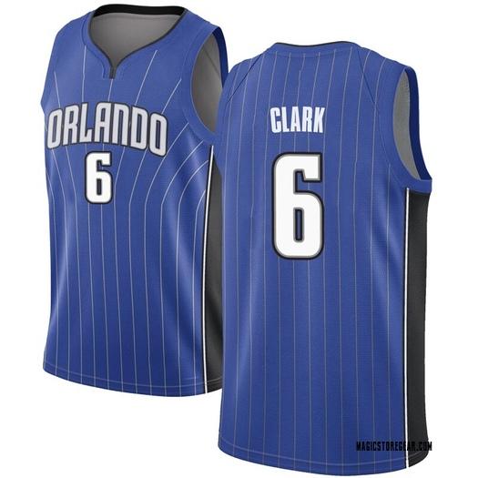 Men's Gary Clark Orlando Magic Nike Swingman Royal Jersey - Icon Edition