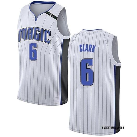 Men's Gary Clark Orlando Magic Nike Swingman White Jersey - Association Edition