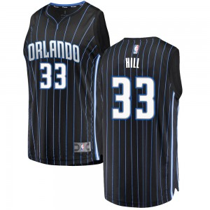 Men's Grant Hill Orlando Magic Swingman Black Fast Break Jersey - Statement Edition