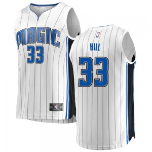 Men's Grant Hill Orlando Magic Fanatics Branded Swingman White Fast Break Jersey - Association Edition