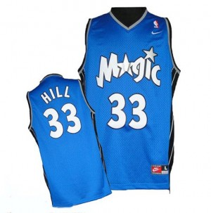 Men's Grant Hill Orlando Magic Authentic Royal Blue Throwback Jersey