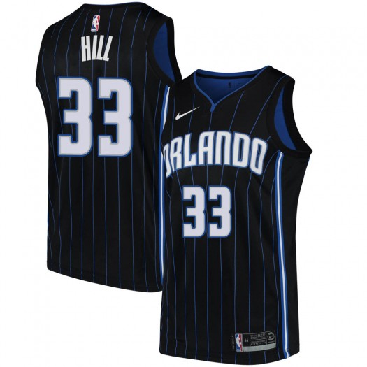 Men's Grant Hill Orlando Magic Nike Swingman Black Jersey - Statement Edition