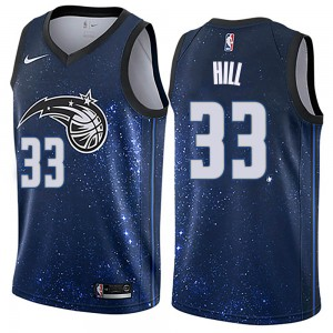 Men's Grant Hill Orlando Magic Nike Swingman Blue Jersey - City Edition