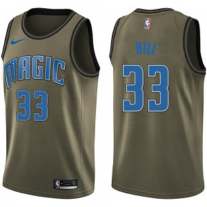 Men's Grant Hill Orlando Magic Nike Swingman Green Salute to Service Jersey