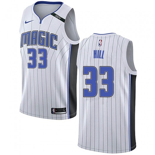 Men's Grant Hill Orlando Magic Nike Swingman White Jersey - Association Edition