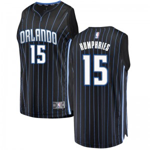 Men's Isaac Humphries Orlando Magic Fanatics Branded Swingman Black Fast Break Jersey - Statement Edition