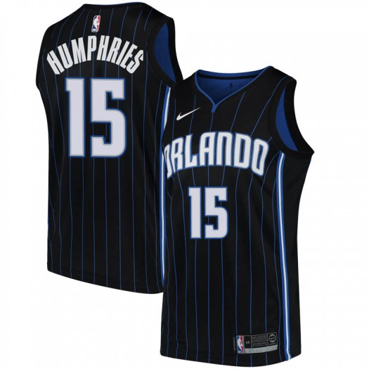 Men's Isaac Humphries Orlando Magic Nike Swingman Black Jersey - Statement Edition