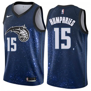 Men's Isaac Humphries Orlando Magic Nike Swingman Blue Jersey - City Edition